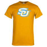 Gold T Shirt-Interlocking SU