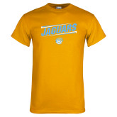 Gold T Shirt-Slanted Jaguars w/ Logo