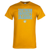 Gold T Shirt-Southern University Jaguars Stacked