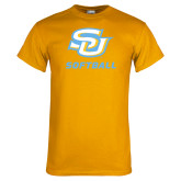 Gold T Shirt-Softball