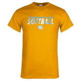 Gold T Shirt-Southern University Jaguars Softball Texture