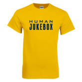 Gold T Shirt-Human Jukebox Wordmark