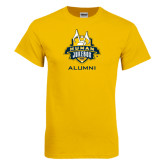 Gold T Shirt-The Human Jukebox - Alumni