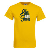 Gold T Shirt-Nobody Does it Better Music Note