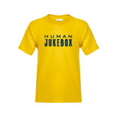 Youth Gold T Shirt-Human Jukebox Wordmark