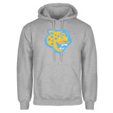 Grey Fleece Hoodie-Jaguar Head