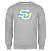Grey Fleece Crew-Interlocking SU