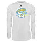 Under Armour White Long Sleeve Tech Tee-SU w/ Jaguar