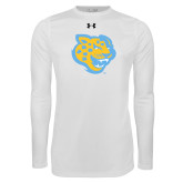 Under Armour White Long Sleeve Tech Tee-Jaguar Head