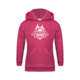 Youth Raspberry Fleece Hoodie-The Human Jukebox Official Mark