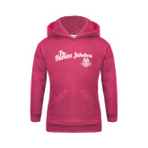 Youth Raspberry Fleece Hoodie-The Human Jukebox Script