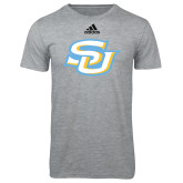 Adidas Sport Grey Logo T Shirt-Interlocking SU