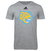 Adidas Sport Grey Logo T Shirt-Jaguar Head