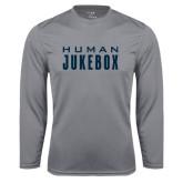 Syntrel Performance Steel Longsleeve Shirt-Human Jukebox Wordmark