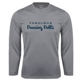 Syntrel Performance Steel Longsleeve Shirt-Fabulous Dancing Dolls Wordmark