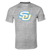 Adidas Climalite Sport Grey Ultimate Performance Tee-Interlocking SU