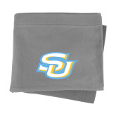 Grey Sweatshirt Blanket-Interlocking SU