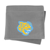 Grey Sweatshirt Blanket-Jaguar Head