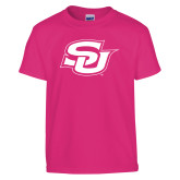 Youth Fuchsia T Shirt-Interlocking SU