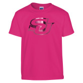 Youth Fuchsia T Shirt-Interlocking SU Foil