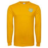 Gold Long Sleeve T Shirt-Jaguar Head