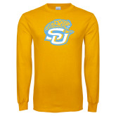 Gold Long Sleeve T Shirt-SU w/ Jaguar