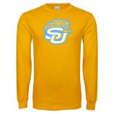 Gold Long Sleeve T Shirt-SU w/ Jaguar