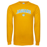 Gold Long Sleeve T Shirt-Arched Jaguars