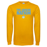 Gold Long Sleeve T Shirt-The Jaguar Nation
