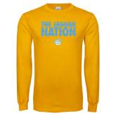 Gold Long Sleeve T Shirt-The Jaguar Nation