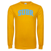 Gold Long Sleeve T Shirt-Arched SUBR