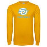 Gold Long Sleeve T Shirt-Football