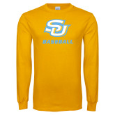 Gold Long Sleeve T Shirt-Baseball