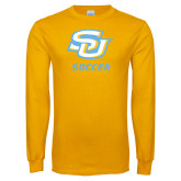 Gold Long Sleeve T Shirt-Soccer