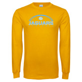 Gold Long Sleeve T Shirt-Jaguars Football w/ Ball