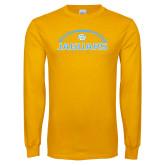 Gold Long Sleeve T Shirt-Jaguars Football w/ Ball
