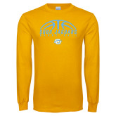 Gold Long Sleeve T Shirt-SUBR Jaguars Basketball Half Ball