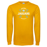 Gold Long Sleeve T Shirt-Jaguars Baseball w/ Seams
