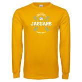 Gold Long Sleeve T Shirt-Jaguars Baseball w/ Seams