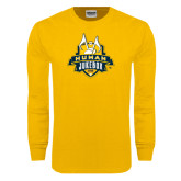 Gold Long Sleeve T Shirt-The Human Jukebox Official Mark