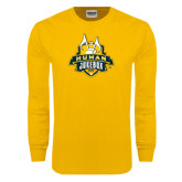 Gold Long Sleeve T Shirt-The Human Jukebox Official Mark Distressed