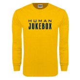 Gold Long Sleeve T Shirt-Human Jukebox Wordmark