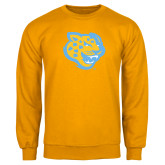 Gold Fleece Crew-Jaguar Head