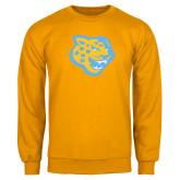 Gold Fleece Crew-Jaguar Head