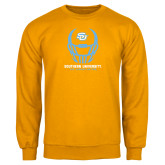 Gold Fleece Crew-Southern University Football Helmet