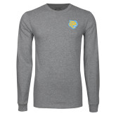 Grey Long Sleeve T Shirt-Jaguar Head