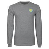 Grey Long Sleeve T Shirt-Jaguar Head