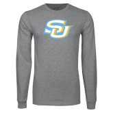 Grey Long Sleeve T Shirt-Interlocking SU