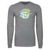 Grey Long Sleeve T Shirt-SU w/ Jaguar