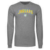 Grey Long Sleeve T Shirt-Arched Jaguars